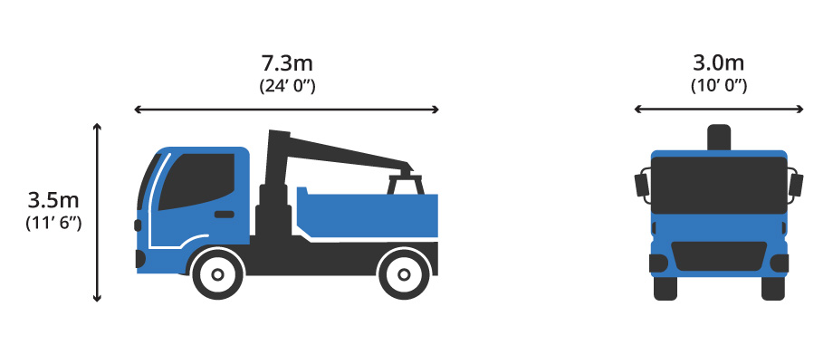 4 Wheeler Small Grab Hire Lorry Diagram