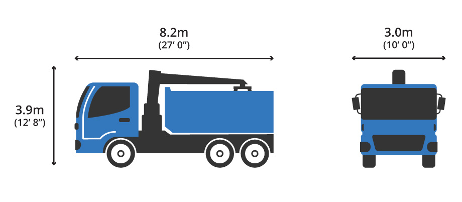 6 Wheeler Small Grab Hire Lorry Diagram