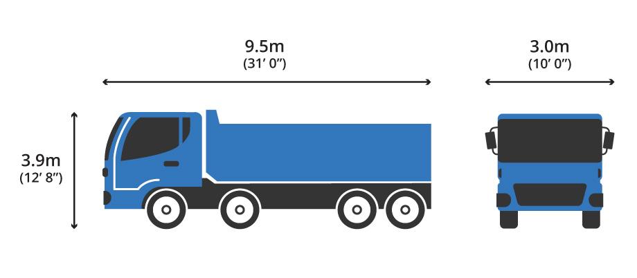 8 Wheeler Tipper Diagram